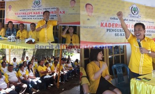 Pelantikan Pengurus Desa se-Kecamatan Dimembe, DENNY WOWILING: Golkar Bangkit, Golkar Jaya, Golkar Menang !!!