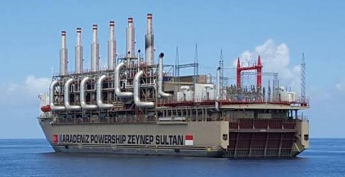 Kapal pembangkit listrik asal Turki di Sulut