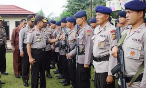 Kapolda Sulut Cek Langsung Kesiapan Personel Pengamanan Pilkada