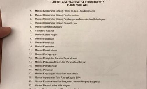 Gabung dengan 20 Menteri, OLLY DONDOKAMBEY Diundang Rapat Terbatas oleh PRESIDEN JOKOWI