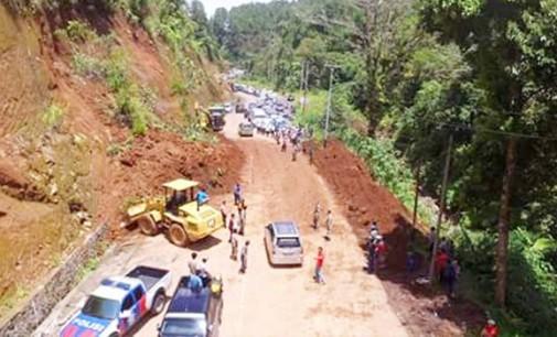 Jalur Gunung Potong Mitra Sudah Bisa Dilalui