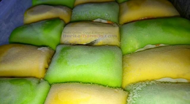 Pancake durian Amandalicious saat baru dikeluarkan dari freezer