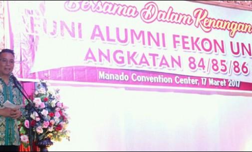 Reuni Alumni Fekon Unsrat, Eman: Ini Memberikan Dampak Positif