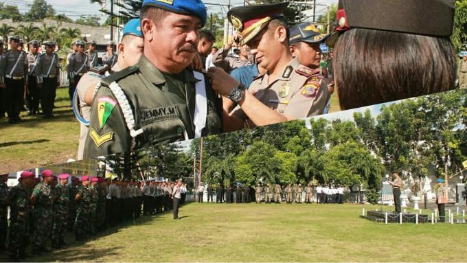 Kapolres ketika memimpin Apel Gelar Pasukan Operasi Simpatik 2017
