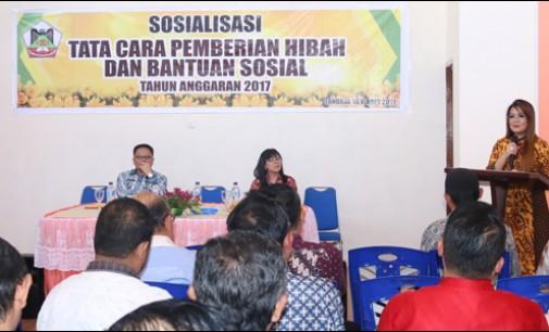 BKD Tomohon Sosialisasikan Tata Cara Pemberian Hibah dan Bansos