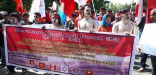 Tantang Freeport, Ini Tuntutan GNP 33 kepada Presiden Joko Widodo