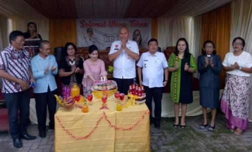 HUT ke-11, Warga Desa Kalawat Jaga Kerukunan