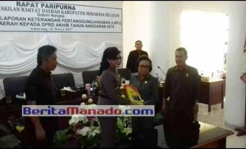 DPRD Minsel Terima LKPJ Bupati TETTY PARUNTU Untuk TA 2016
