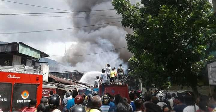 Kebakaran di Pasar Cita Kota Bitung