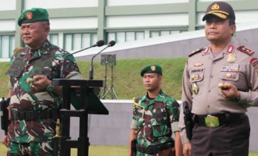 Jaga Sinergitas, TNI-Polri di Sulawesi Utara Gelar Apel Bersama