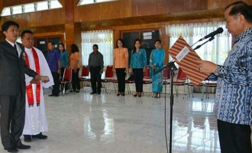 Walikota Lantik AUDY PANGEMANAN Jabat Sekda Bitung