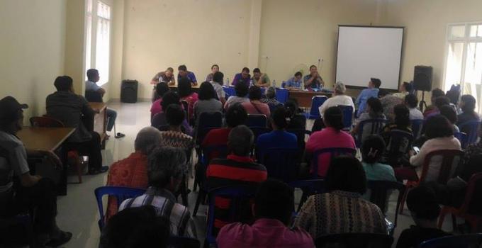Sosialisasi kepada para pedagang sabua bulu di kantor kecamatan Malalayang, Kamis