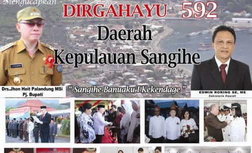 Dirgahayu ke 592 Kabupaten Kepulauan SANGIHE