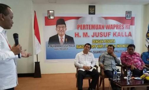 Di Manado, Wapres Jusuf Kalla Puji Ketum HIPMI Bahlil Lahadalia