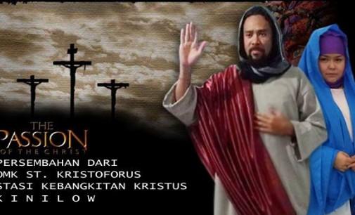 Hari Ini OMK Stasi Kebangkitan Kristus Kinilow Gelar Jalan Salib