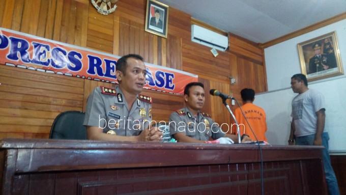 AKBP Philemon Ginting SIK MH dan Iptu Fandi Ba'u bersama tersangka