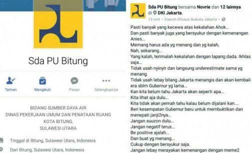 Wow !!! SDA PU Bitung Ikut Urusi Pilkada Jakarta