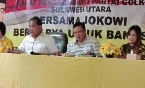 Vreeke Runtu Pimpin Rapat Pleno Diperluas Partai Golkar Sulut