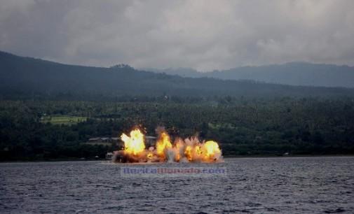 Wah !!! Sembilan Kapal Diledakkan di Pantai Kema
