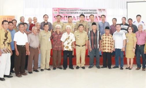 Disbudpar Gelar Seminar Budaya Minahasa Tenggara