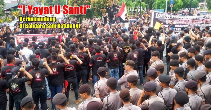 Aksi Penolakan Fahri Hamzah di Bandara Sam Ratulangi Manado
