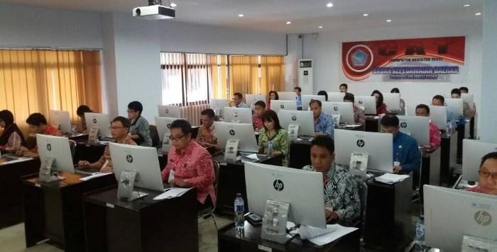 CAT Pejabat Pemprov oleh BKD Provinsi Sulut. (BMC)