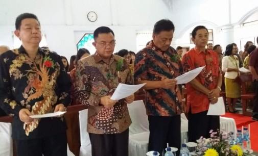 Wabup JOPPI LENGKONG Hadiri Sertijab Ketua BPMJ Sawangan