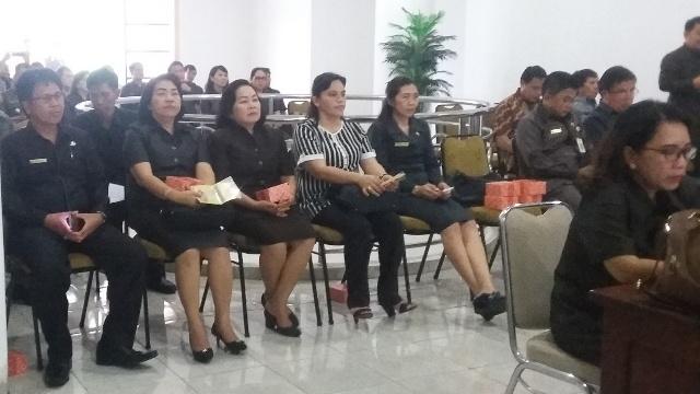 Pimpinan OPD Yang Menghadiri Rapat Paripurna DPRD Minsel