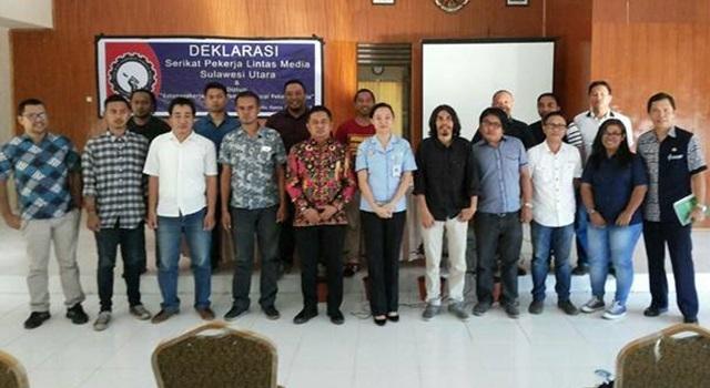 Pengurus Serikat Pekerja Lintas Media (SPLM) Sulawesi Utara