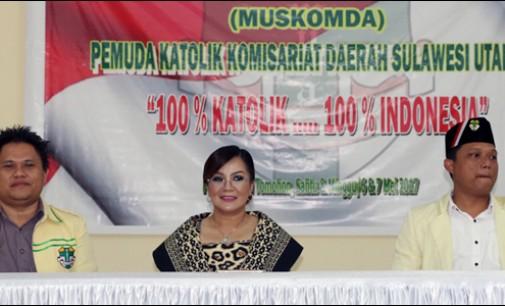 Syerly Sompotan Hadiri Muskomda Pemuda Katolik Sulawesi Utara