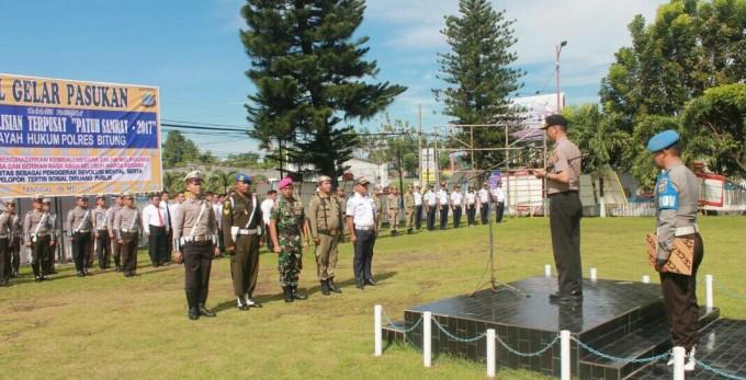Apel gelar pasukan Operasi Patuh Samsat 2017 Polres Bitung