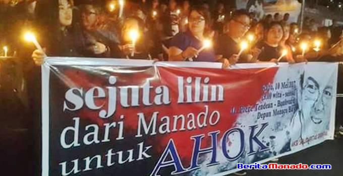 Spanduk sejuta lilin untuk AHOK