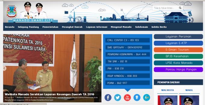 Website Pemkot Manado Mei 2017