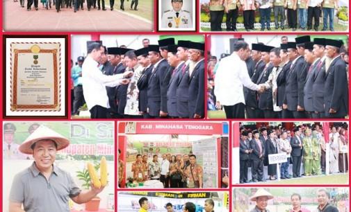 Bupati James Sumendap Terima Satya Lencana dari Presiden