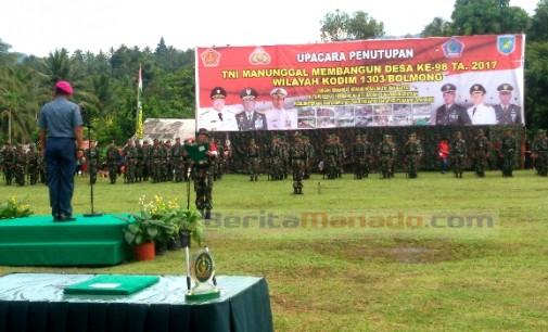 Kolonel Mar Edi Setiawan Tutup TMMD 98 Bolmong, Ini Kata Jenderal TNI Mulyono
