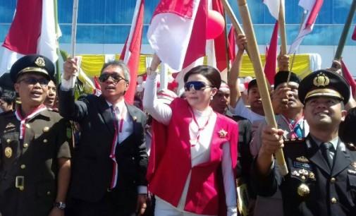 Spektakuler !!! Ribuan Bendera Merah Putih Berkibar, Gelorakan Semangat Persatuan