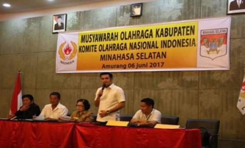 Terpilih Ketua KONI, James Kojongian Janji Majukan Olahraga Minsel