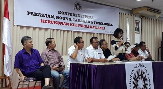Konferensi Pers Kerukunan Keluarga Kawanua
