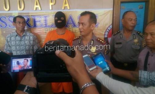 Pelaku Pembunuhan IRT Girian Atas Diamankan Polres