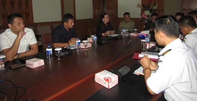 Rapat Komisi 1 bersama Bakamla zona tengah di DPRD Sulut, Selasa tadi