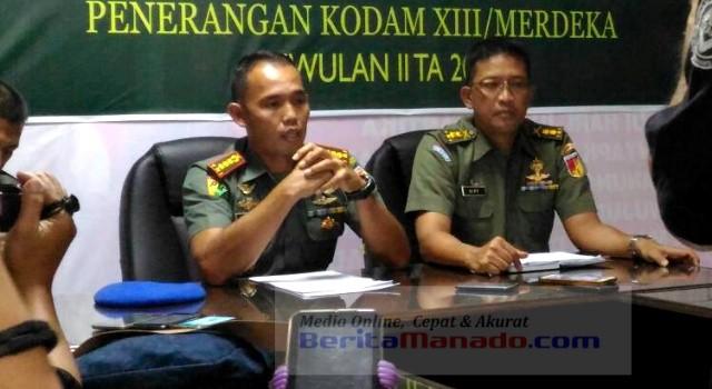 Kolonel CPM Satari Wahyudianto (Kiri) dan Letkol Inf Erick Vipy (Kanan)