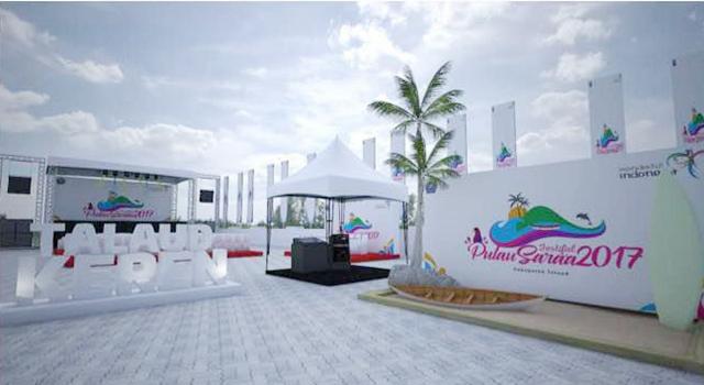 Lokasi pelaksanaan Festival Pulau Sara'a