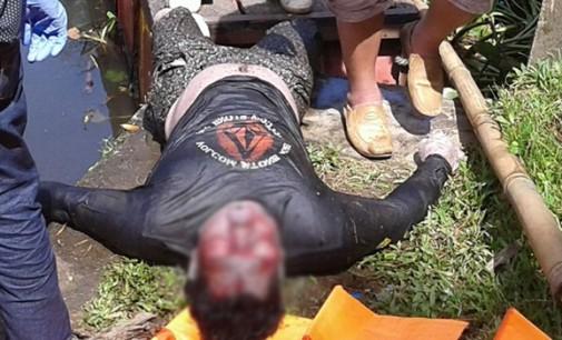 Mayat Pria Berbaju Hitam Ini Ditemukan di Pintu Air DAS Tondano