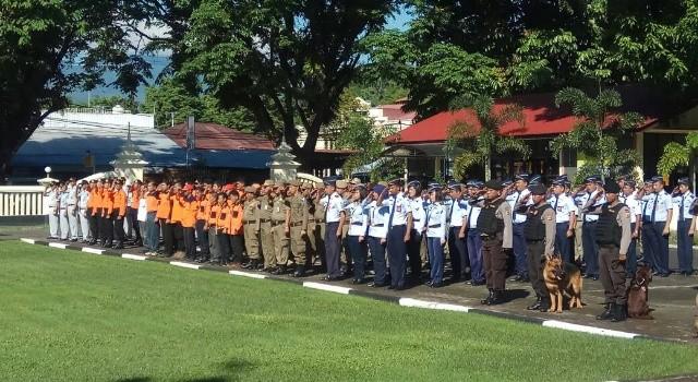 Apel gelar operasi Ramadnya 2017 di Mapolda Sulut