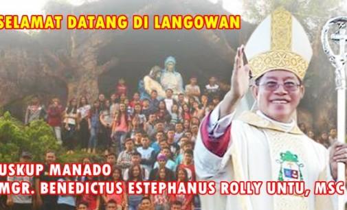 Hari Ini Mgr Rolly Untu MSC Kunjungi Langowan