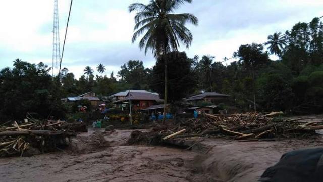 Banjir Bandang di Desa Tambelang, Minahasa Selatan
