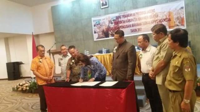 Bupati Tetty Paruntu Dengan Bahas Kerjasama Dengan GPMT Indonesia dan Pengusaha Jagung