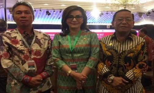 Bupati CHRISTIANY PARUNTU Hadiri Rakornas Pengendalian Inflasi 2017