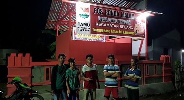 Contoh Pos Ronda untuk kegiatan Siskamling Desa Buku Tengah Kabupaten Minahasa Tenggara