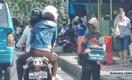 Di HUT ke-394, Pedagang Begini Menjamur di Pusat Kota Manado